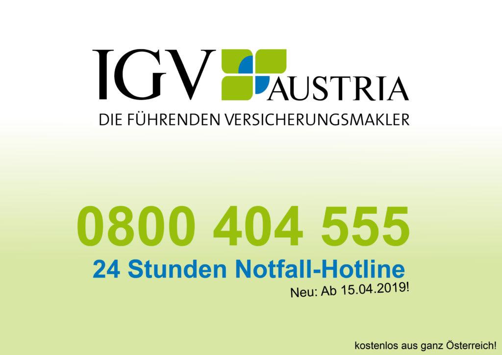 IGV Versicherungsmakler starten 24 Stunden Notfall-Hotline